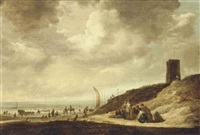the beach at egmond by maerten fransz van der hulst