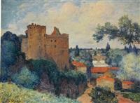 vue du château de clisson by ferdinand puigaudeau