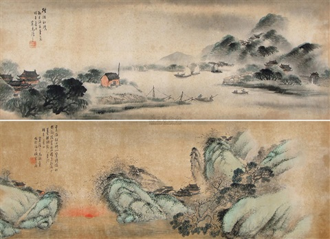山水 2 works by ma yuzhang