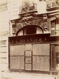 boutique rue poissonnière, caserne des célestins, maison rue meslay, paris (3 works) by paul robert