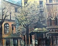 escena de ciudad con kiosko by alceu ribeiro