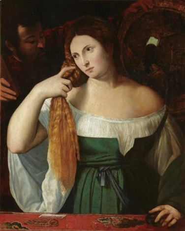 a lady at her toliet by titian tiziano vecelli