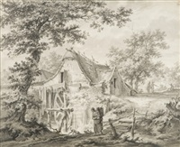 le moulin à eau by pietersz (pieter) barbiers
