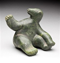 seated bear by anonymous-inuit