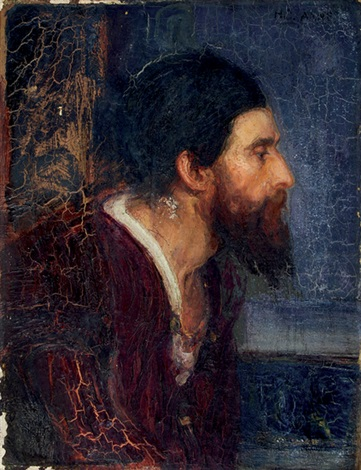portrait of a bearded man by henry ossawa tanner