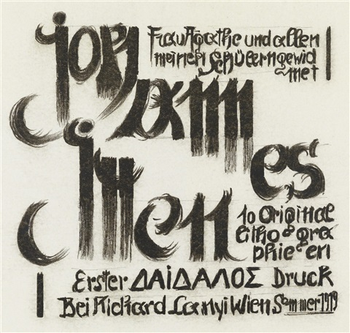 johannes itten frau agathe und allen meinen schülern gewidmet 10 works by johannes itten