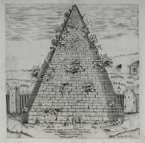 sepoltura di c cestio appresso la porta di san paolo by nicolaus van aelst