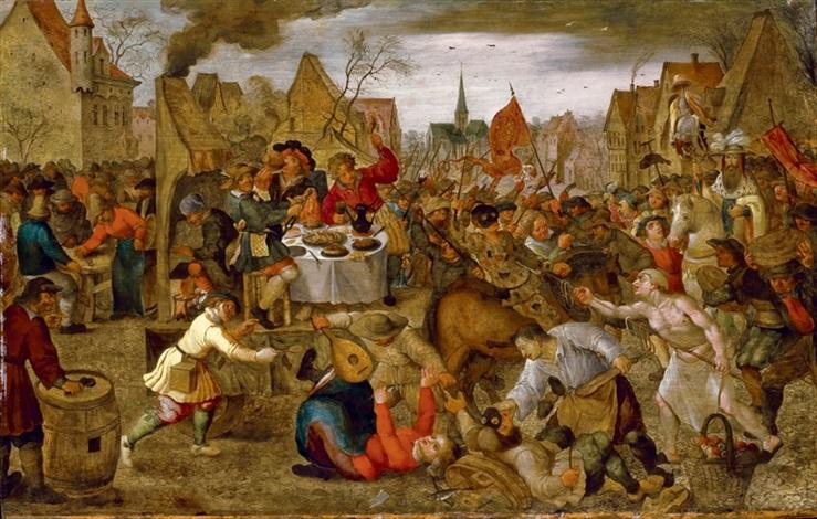 la bataille entre carnaval etcarêmeby pieter brueghel iii