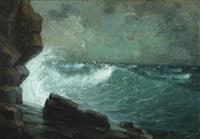 storm near cape caliacra by eugen (cean) voinescu