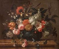 bouquet de fleurs sur un entablement by pieter casteels iii