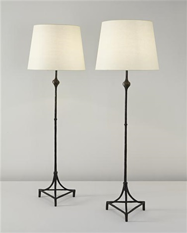 knuckle standard lamps a pair by alberto giacometti