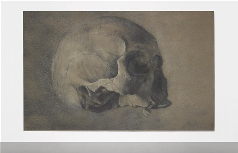 ash skull no 6 by zhang huan