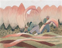men harvesting by malcolm arbuthnot