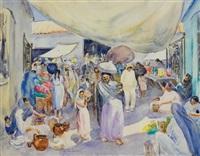tunisian market by martha walter