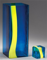 vase and candle holder (2 works) by pierre cardin