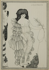 lysistrata (8 works) by aubrey vincent beardsley