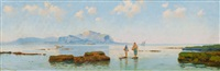 fishermen in the bay of palermo by eremino kremp