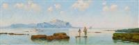 fishermen in the bay of palermo by eremino kremp