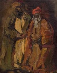 les deux rabbins by mané-katz