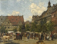 marktplatz in hanau by paul andorff