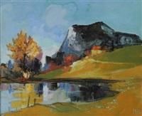 lac de montagne by louis amalvy