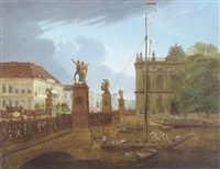 view of schloßbrücke and zeughaus by friedrich wilhelm klose