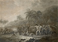 the death of captain cook (engraved by francesco bartolozzi & william byrne) by john webber