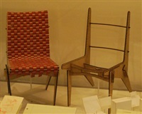 two half scale chair model (2 works) by abbott miller