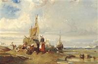 unloading the boat by eugène modeste edmond le poitevin