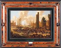 scènes de ports imaginaires (2 works) by pieter casteels iii