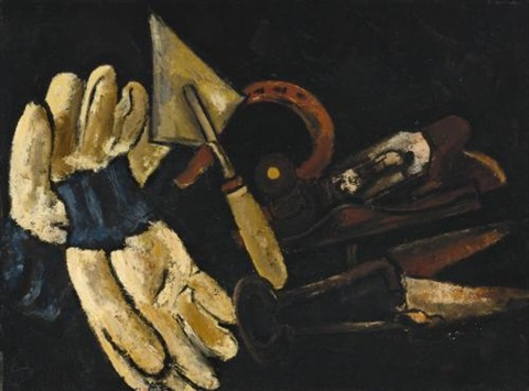 gardeners gloves and field implements by marsden hartley