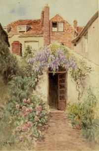 house with garden, nantucket by jane brewster reid