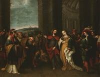 le christ et la femme adultère by hieronymus francken the younger
