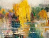 湖边风景 (willow) by xu ming