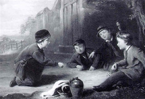 playing marbles by william gill