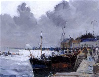 port de pêche by louis edouard garrido