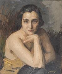 portrait d'une femme by lucien-hector jonas