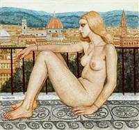 blonde girl (model from florence) by bela czene