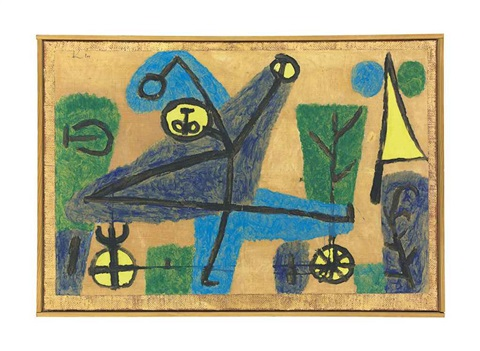 blauer tänzer by paul klee
