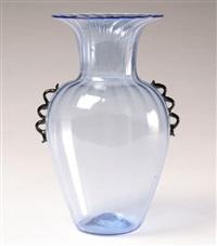 soffiati transitional murano vase by zecchin martinuzzi