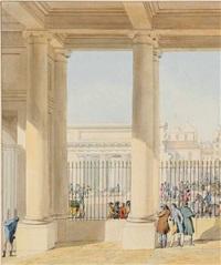 vue de la fontaine de l'école de médecine by pierre françois léonard fontaine