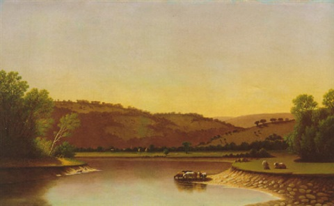 landscape with cattle by james augustus suydam