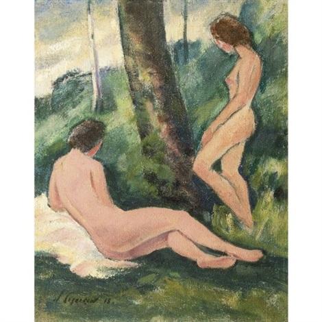 two nudes by nikolai alexandrovich zagrekov