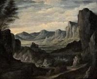 paysage aux montagnes by johannes ruyscher