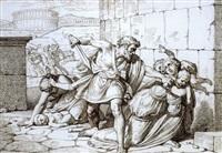la strage degli innocentti (+ scena mitologica con cupido; 2 studies) by carlo arienti