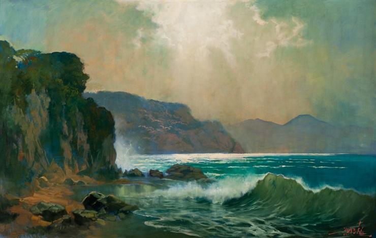 coastal scene in sumatra by raden basoeki abdullah