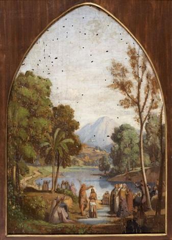 le baptême du christ by théodore claude félix caruelle d aligny