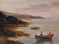 untitled - sunset boat ride by joseph-charles franchere