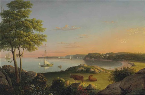 gloucester stage fort beach by fitz henry lane