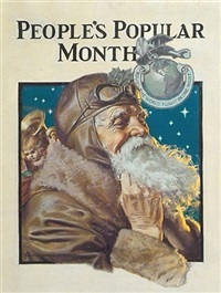 santa claus buttons up his flying gear (illus. for people's popular monthly) by walter beach humphrey
